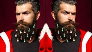 Christmas Beard is Back and This Time with Festive Baubles! View Pics