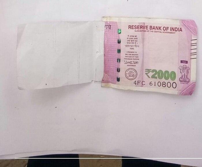 ATM dispenses 'half-printed' Rs 2000 note in Delhi