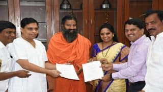 Ramdev's Patanjali Inks MoU With Telangana Government to Set up a Massive Food Park in The State