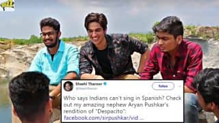 Shashi Tharoor's Nephew Aryan Pushkar Sings Despacito in Spanish in This Viral Video; Here's What the Twitterati is Saying