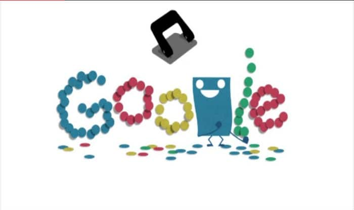 Google Doodle commemorates the 131st anniversary of the punching machine