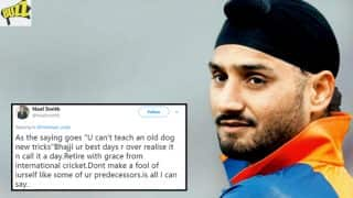 Ace Indian Cricket Player Harbhajan Singh Shuts Twitter Troll Who Called Him 'Old Dog'