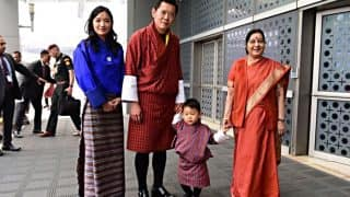 Bhutan's Royal Prince Steals The Show, Has Sushma Swaraj Wrapped Around His Little Finger (See Pictures)