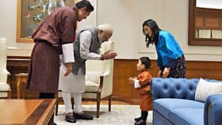 Bhutan's Royal Prince Is Stealing Hearts All Around, This Time It's PM Narendra Modi Who Is Smitten (See Pictures)