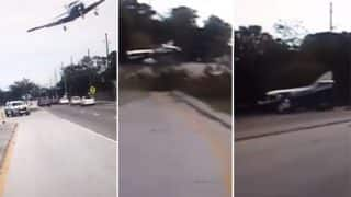 Shocking Video of Plane Flying Dangerously Low And Crashing On The Highway in Florida, United States