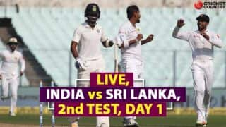 Live Cricket Score, India vs Sri Lanka 2017-18, 2nd Test
