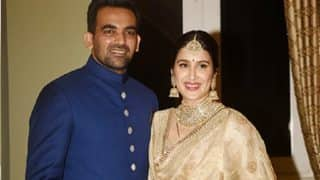 Sagarika Ghatge And Zaheer Khan Had The Sweetest Gift For The Media Shutterbugs At Their Wedding Reception - Read Details