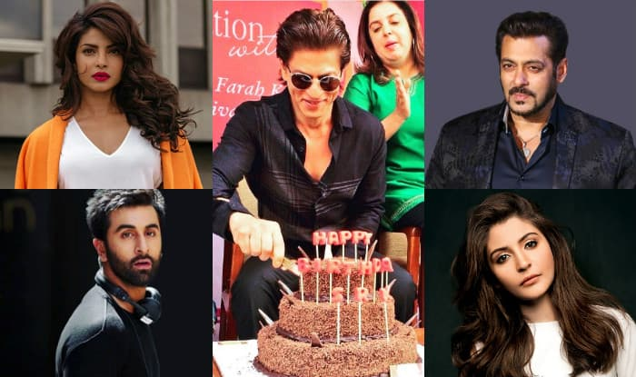 Shah Rukh Khan Celebrates 52nd Birthday Priyanka Chopra to Salman
