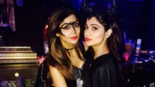 INSIDE PICS: Shilpa Shetty Kundra And Shamita Shetty Flaunt Their Sexy Yet Spooky Halloween Costume