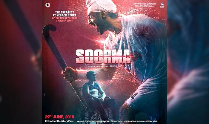 Diljit Dosanjh plays hockey player Sandeep Singh, unveils Soorma poster