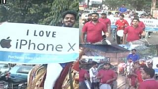 Man Goes To Buy Apple's iPhone X Riding A Horse And Accompanied By A Band In Thane