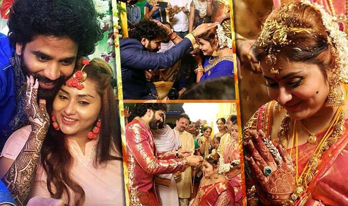 Actress Namitha weds Veer in Tirupathi
