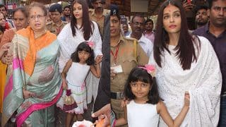 Aishwarya Rai Bachchan Celebrates Her 44th Birthday By Visiting The Siddhivinayak Temple With Aaradhya - View Pics