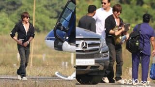 After Ringing In Birthday In Alibuag, Shah Rukh Khan And AbRam Take A Chopper Ride To Mumbai