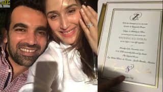 Zaheer Khan and Sagarika Ghatge   s Wedding Card Pics Are Here