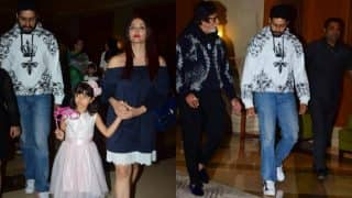 Aaradhya Bachchan Looks Like A Princess On Her Birthday As She Steps Out With Aishwarya Bachchan, Amitabh Bachchan And Abhishek Bachchan - View Pics