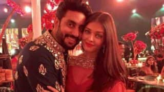 Aishwarya Rai Bachchan And Abhishek's Fan-Made Sketch Lights Up Junior Bachchan's Day On The Sets Of Manmarziyaan (PIC)