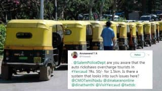 Man Complaining About Rickshaw Fares Tags USA Salem Police Instead of Tamil Nadu