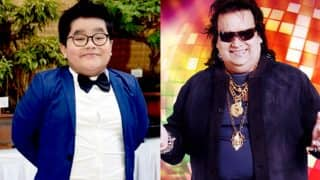 Bappi Lahiri's Grandson Swastik Bansal Loves Gold too, is he Here To Steal His Grandfather's Swag?