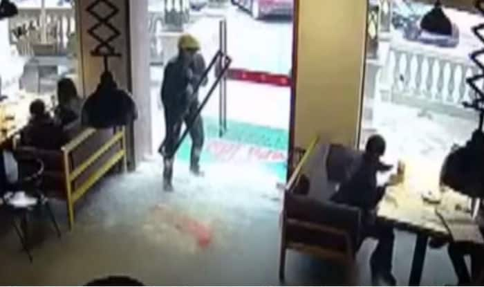 Chinese Delivery Man Walks Through A Glass Door And Yet Escapes