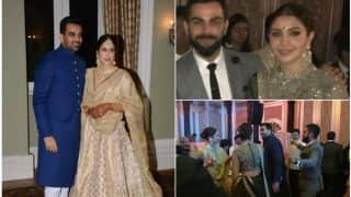 Sagarika Ghatge- Zaheer Khan Reception: Virat Kohli, Anushka Sharma, Yuvraj Singh, Hazel Keech Grace The Star-Studded Bash (View Inside Pics)