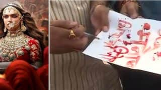 Padmavati Row Takes A Nasty Turn As Sarv Brahmin Mahasaba Pens A Letter Signed With Blood To Ban The Film's Release