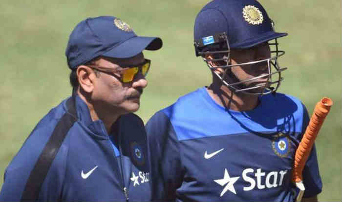 File image of Ravi Shastri with MS Dhoni. (Getty)