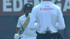 Perera Looks Towards Dressing Room Before Taking DRS, Creates Controversy During Kolkata Test