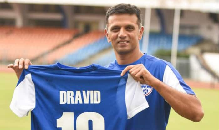 Dravid was named as ambassador for Bengaluru FC. (Twitter image)