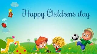Children's Day 2017 Wishes In Hindi: Best WhatsApp Messages, GIF Images, Facebook Posts and SMS Quotes to Wish Bal Diwas