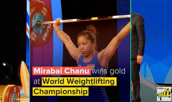 India's Mirabai Chanu Wins Gold Medal At World Weightlifting Championship