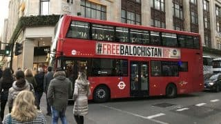 London Buses Carry 'Free Balochistan' Campaign Posters