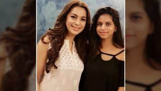 Juhi Chawla And Shah Rukh Khan's Daughter Suhana Khan Pose Together For A Cute Picture - View Photo