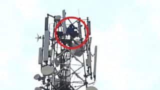 Real-life Sholay! Telangana Man Climbs Mobile Tower Demanding Divorce From His Wife (Video)