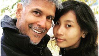 मिलिंद सोमन ने खुद से 32 साल छोटी गर्लफ्रेंड के साथ मनाया  बर्थडे, शेयर की फोटो