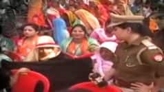 Muslim Woman Asked to Remove Burqa at CM Yogi Adityanath's Rally For Uttar Pradesh Local Elections in Ballia