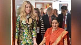 Sushma Swaraj Meets Ivanka Trump at GES 2017, Discusses Women Entrepreneurship And Empowerment