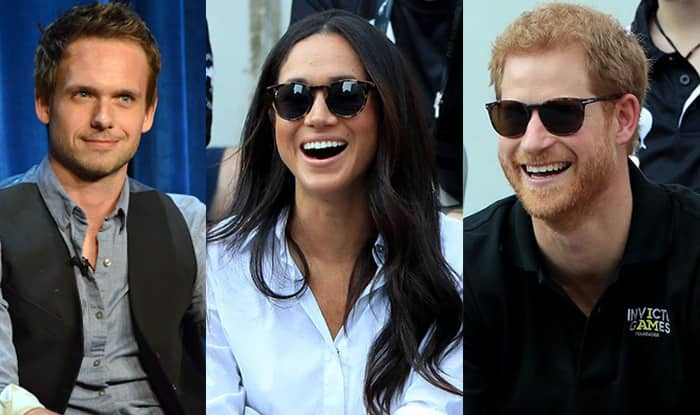 Resultado de imagem para meghan markle with harry and patrick j. adams