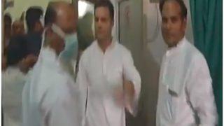 NTPC हादसा: गुजरात दौरा रद्द कर रायबरेली पहुंचे राहुल, अब तक 30 की मौत