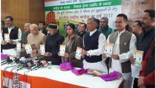 हिमाचल में कांग्रेस का घोषणापत्र जारी, लगाई वादों की झड़ी, मुफ्त लोन का भी ऐलान