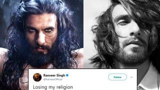 Ranveer Singh Shared Photo With 'Losing His Religion' Caption, Twitterati Got Miffed While Some Compared Him To Sonu Nigam