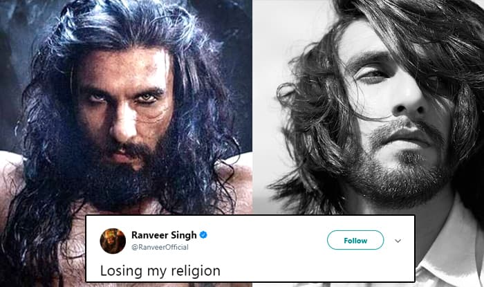 Ranveer Singh Shared Photo With 'Losing His Religion ...