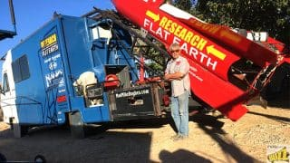 Man To Launch Himself On His Homemade Rocket to Prove Earth Is Flat