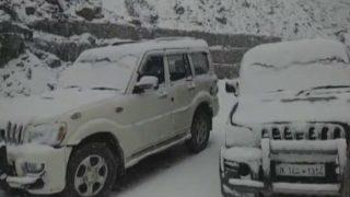 Heavy Snowfall in J&K's Pir Panjal Range; Mughal Road Closed - Watch Video