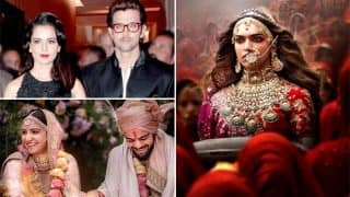 Padmavati Release; Virushka Wedding; Kangana Ranaut - Hrithik Roshan Controversy: Bollywood Year 2017 In Review