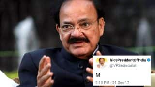 Vice President M Venkaiah Naidu's Official Twitter Account Tweeted Only the Letter 'M' and Twitterati Went Into Overdrive Decoding it With Hilarious Results