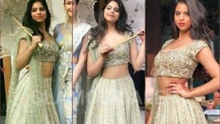 Suhana Khan Partying In A Golden Lehenga Looks Like An Absolute Diva - View Pics