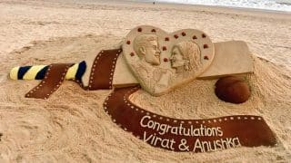 Virat Kohli - Anushka Sharma Wedding: This Sand Art Of The Newly Weds Is The Best Thing You'll See Today