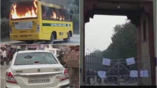 Varanasi: Violence in Banaras Hindu University After Student Leader Arrested, School Bus Set on Fire