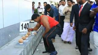 Kerala Man Enters Guinness World Records By Breaking 122 Coconuts in a Minute (Video)